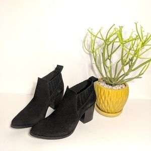 22e9b65b1da Steve Madden Pauze Suede Leather Ankle Booties